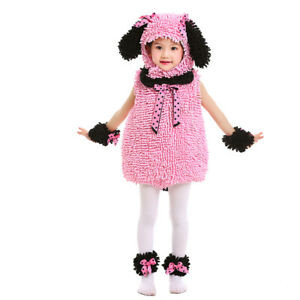 Halloween Costume Toddler Cute Pink Poodle Costume