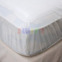 Queen Mattress Cover Waterproof Fitted Vinyl Bed Bug Dust Mites & Allergy Relief
