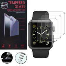 3x Vidrio Protección para Apple Reloj 38mm/Edition 38mm Cristal real