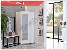 Eckschrank Schrank Schlafzimmer Eckkleiderschrank Spiegeltüren weiß