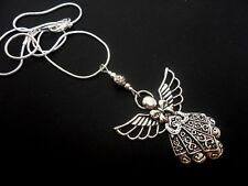 A TIBETAN SILVER  FAIRY ANGEL  PENDANT NECKLACE.  NEW.