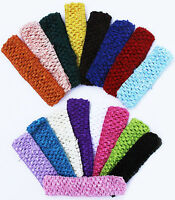 "Lot of (12) 1.5"" Crochet Headbands You Pick Colors!"