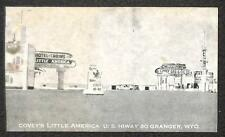 Covey'S Little America Us. Hwy 30 Granger Wyoming Gas Station Postcard (c. 1930)