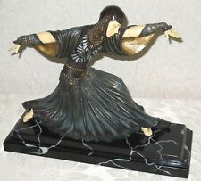 VERONESE Art Deco LADY SCULPTURE - Reclining Pose after DEMETRE CHIPARUS