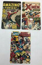 (3) Marvel X-Men Spider-Man Super Hero Vintage Collector Comic Book Phone Cards