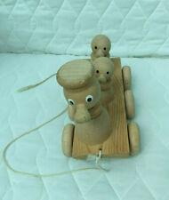 Juguete de actividad de Pato de madera Pull Along