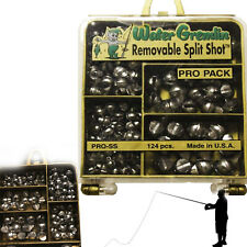 Removable Split Shot Pack Tackle Pro Sinker Weight Set Fishing 124 pieces Kit