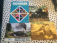 Lot Of 4 ORIGINAL VINTAGE TRAIN MODEL CATALOG's From 1960's And 1970's