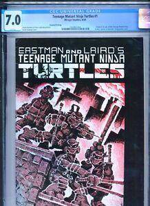 1984 MIRAGE STUDIOS TEENAGE MUTANT NINJA TURTLES #1 2ND PRINT CGC 7.0 WHITE BOX3