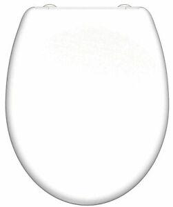 WC Sitz Weiß Klodeckel Toilettendeckel Abnehmbar mit Softclose Absenkautomatik