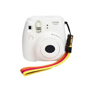 Yellow/Orange Adjustable Camera Wrist Strap-Fuji Mini 9/8/25/50/7/90/Wide 300