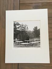 """BRUCE BLUM SIGNED B&W Photo Print (10""""X 10"""")-""""Chairs and Tables """""""