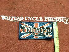 "Triumph Motorcycle Patch over Union Jack 4"""