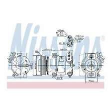 Fits Fiat Grande Punto 199 1.3 D Multijet Genuine Nissens A/C Air Con Compressor