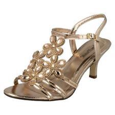 Scarpe da donna blocchetti di oro di sera