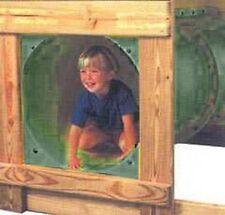 "Swing Play Set Outdoor Backyard Jungle Gym Tunnel Tube 60"" Green"