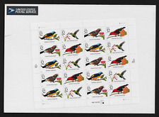 USA Stamps — Full Pane of 20 — 1998, Tropical Birds #3222-25 — MNH