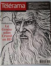 Télérama 20/06/2009; LA genèse selon Crumb en BD/ Valéry Larbaud/ Mylayne JL
