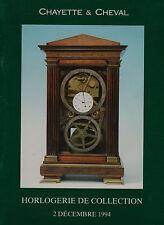 COLLECTION OF CLOCKS: HORLOGERIE DE COLLECTION AUCTION CATALOGUE