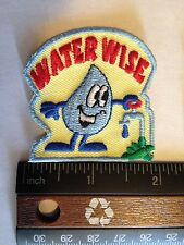 Girl Scout/Camp Fire/Boy Scout Water Wise Patches   - New - Qty1