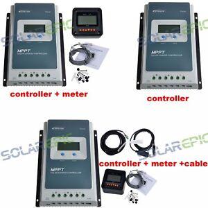 Epever MPPT 40A Solar Charge Controller 12V/24V Regulator Charger 100V PV Input