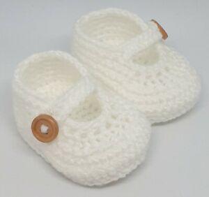 Crochet baby booties newborn shower gift baby boy newborn girl handmade shoes