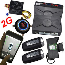 Smartphone gsm&gps car alarm compatible with ios and android phone engine start