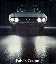 Lancia Fulvia 1.3 Coupe Series 2 1971-74 UK Market Multilingual Sales Brochure