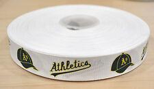 7/8 inch Oakland Athletics Grosgrain Ribbon-1 Yard