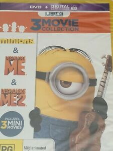 Minions/ Despicable Me/  Despicable Me 2 DVD Brand New