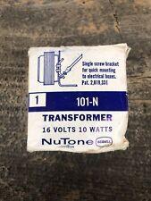Nos Nutone 101-N 16 Volt 10 Watt Transformer