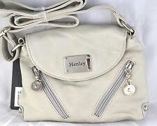 Henley Mujer Chica Mini Pequeño Hombro Bolso Cruzado Crema Piel Sintética