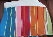 "Pottery Barn Pb Teen Pura Vida Full Bed Skirt Striped 13.5"" Drop Cotton"