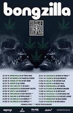 BONGZILLA 2016 USA CONCERT TOUR POSTER - Stoner/Sludge Metal Music
