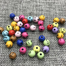 8mm 50pcs Various Expressions Round Pearl Acrylic Beads Lot Jewelry Making