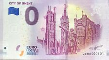 BILLET 0 EURO CITY OF GHENT BELGIQUE   2019-1  NUMERO RADAR 101