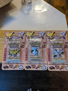 Pokemon 1st Edition Fossil Blister Lot ALL 3 ARTWORKS