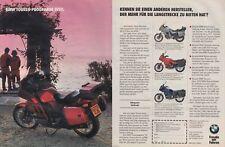 BMW K 100 LT - Reklame Werbeanzeige Original-Werbung 1990