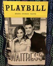 Waitress Broadway Musical Playbill Jeremy Jordan Soshanna Bean Great Condition