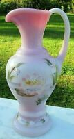 "FENTON ""TRANQUIL POND"" ROSALENE PITCHER 9.5""H x 4.5""W  Ltd. #1154 GORGEOUS**"