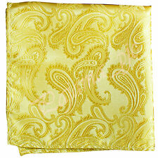 Paisley Handkerchief Only Pocket Square Hanky GOLD Wedding Party