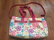 Coach Daisy Floral Rainbow Diaper Bag, Large Purse School Work Tote