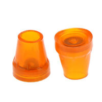"""2pcs 22mm 7/8"""" Rubber Tips End Bottoms For Cane Walking Stick Crutch Chair"""