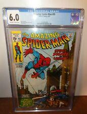 Marvel Comics 95 Amazing Spiderman cgc 6.0 Avengers 1971 spidey fights London