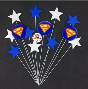 Party :  Superman Cake Cupcake Topper Party Decor