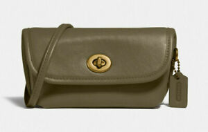 Coach Turnlock Flare belt bag convertible Leather Crossbody Clutch ~NWT~ 315