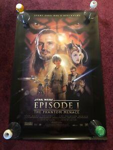 STAR WARS EPISODE I PHANTOM MENACE MOVIE POSTER 1 Sided ORIGINAL 27x40
