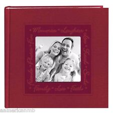 DA200CLSCR Pioneer Photo Album 200 Pictures 4x6 Red Frame Embossed Faux Leather
