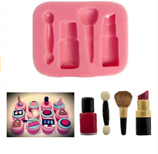 Makeup Silicone Fondant Mould Lipstick Shoe Cake Decor Icing Sugarcraft Mold