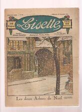 LISETTE 1924.COUVERTURE DE LE RALLIC. N°181. LES DEUX ARBRES DE NOEL.....BE